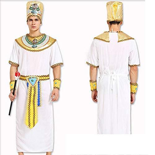 Weibliche Kostüm Ägyptische - GUAN Halloween-Kostüm-Erwachsener ägyptischer Prinz Clothes Egyptian Pharao Yan Hou König Cosplay Masquerade