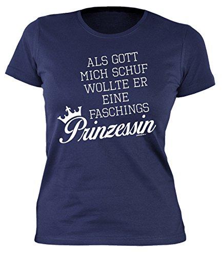 Fastnacht Girlie Shirt ::: Gott wollte eine Faschings PRINZESSIN ::: Karneval Fan und - über Gott Halloween