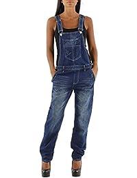 si moda Damen Femme Jeans Pantalon Baggy Boyfriend Dungarees Latzjeans Jumpsuit Overall Combinaison Salopette