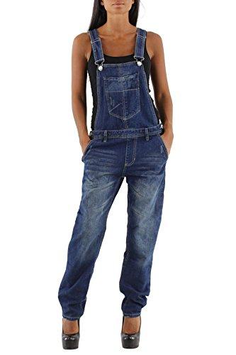 Damen Jeans Hose Baggy Boyfriend Latzhose Latzjeans Jumpsuit Overall Hüftjeans, Hosengröße:38