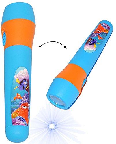 alles-meine.de GmbH Taschenlampe LED -  Disney Findet Nemo - Fisch Dory  - für Kinder Lampe / Projektor - Fische blau Fisch Licht Auto Kindertaschenlampe für Jungen & Mädchen -..