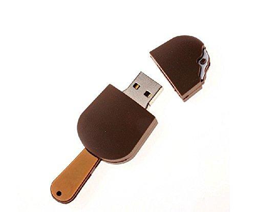niceeshop(TM) 8GB Neuheit Speiseeis USB Flash Drive, Kaffeebraun
