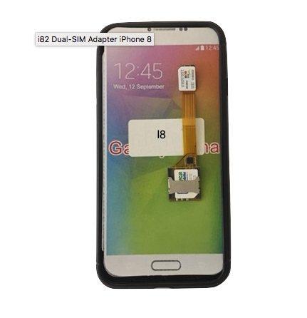 2-phones-in-1® I-82 Dual SIM Adapter für Apple iPhone 8