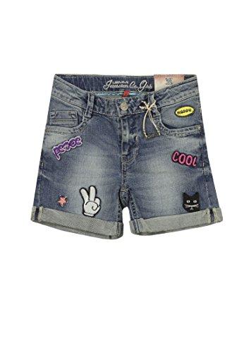 Lemmi Mädchen Shorts Jeans Girls Mid, Blau (Blue Denim 0013), 152