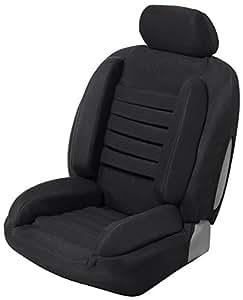 housse siege auto universelle anti mal de dos super confort noir. Black Bedroom Furniture Sets. Home Design Ideas