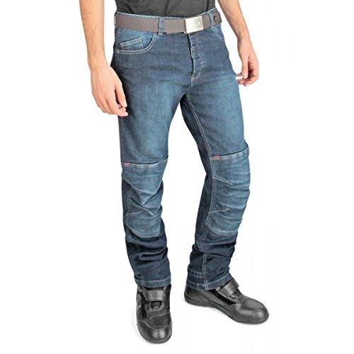 Oj - giove man jeans 4 stagioni tessuto esterno in denim elasticizzato, blu, 50