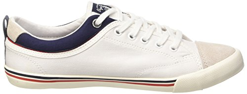Pepe Jeans London Britt Piping, Baskets Basses Homme Blanc (800 White)