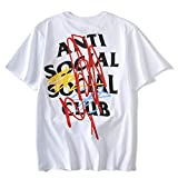 QYS Antisoziales Social Club Kanye West ASSC T-Shirt,White,M