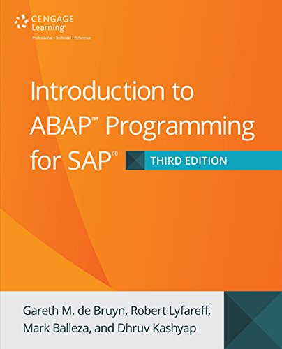 Introduction to ABAP Programming for SAP, 3rd Edition
