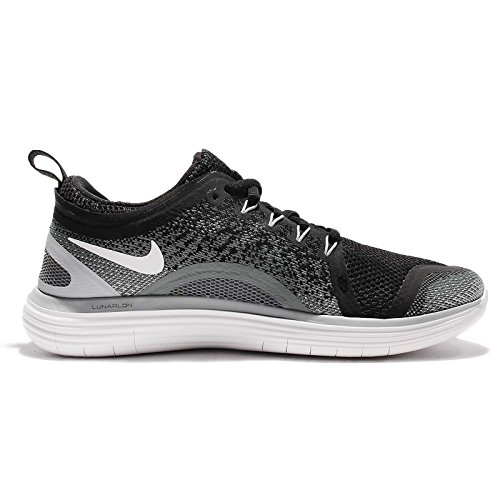Nike Women's Nike Free Rn Distance 2 Running, Chaussures de Fitness femme Mehrfarbig (Black/White-Cool Grey-Dark Grey)