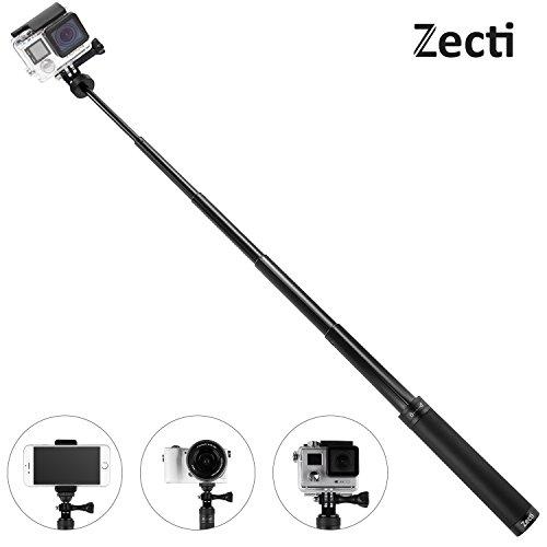 Zecti GoPro Selfie Stick Erweiterbar Handheld Einbeinstativ mit 1/4