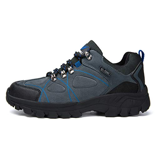 MISSQQScarpe Trekking Uomo Scarponi Trekking Escursionismo Anti Scivolo Scarpe da Passeggio Sportive All'aperto Trekking Sneakers Scarpe da Camminata