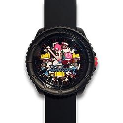 Wize & Ope–CR-4–Crunch–Armbanduhr-Armbanduhr KL129Analog Silikon Schwarz