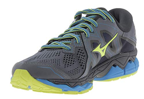 Mizuno Wave Sky 2, Scarpe da Corsa Uomo, Multicolore (Ombre Blue/Safety Yellow/Black), 42.5 EU