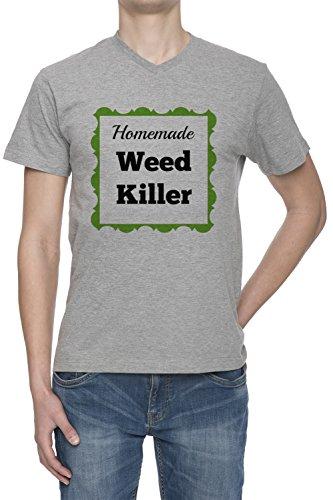 homemade-weed-killer-homme-gris-v-col-t-shirt-toutes-les-tailles-mens-grey-v-neck-v-col-t-shirt-top-
