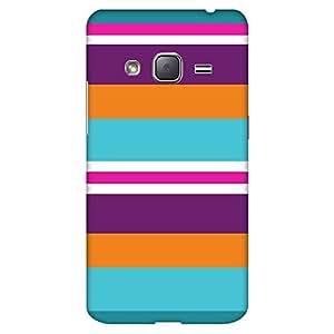 Mobo Monkey Designer Printed Back Case Cover for Samsung Galaxy J3 (6) 2016 :: Samsung Galaxy J3 2016 Duos :: Samsung Galaxy J3 2016 J320F J320A J320P J3109 J320M J320Y (Leather :: Stripes :: Colorful Stripes :: Texture And Patterns :: Big Stipes)