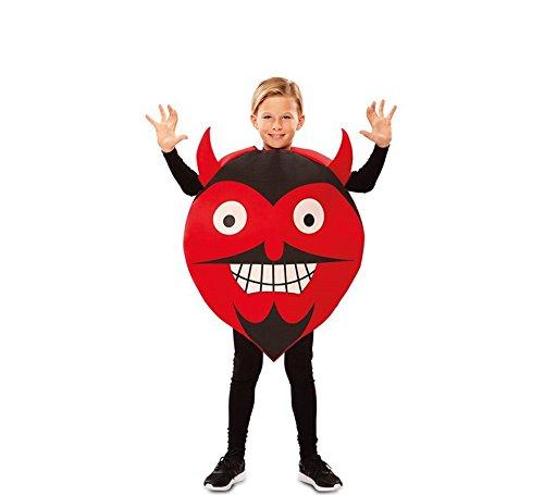 EUROCARNAVALES Teufel Emoji Kostüm für Kinder T-02 (7/9 Jahre)