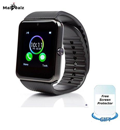 SmartWatch mit Sim-karte Eintrag MaiDealz GT08 Bluetooth Smart Watch Fitness Watch with Touch Screen Hands-Free Calorie Counter Pedometer Bracelet Smart Activity Tracker Wristband for Android Smart Phones: Samsung/HUAWEI/HTC/Sony/Google Nexus