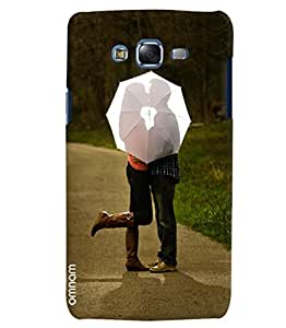 Omnam Girl And Boy Loving Each Other Behind Umbrella Printed Designer Back Cover Case For Samsung Galaxy J7