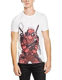 Marvel Men's Deadpool Character Short Sleeve Top