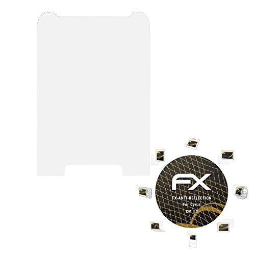 atFolix Panzerfolie kompatibel mit Cyrus cm 15 Schutzfolie, entspiegelnde & stoßdämpfende FX Folie (3X)