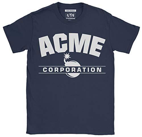 6TN Herren Lustiges Acme Corp T-Shirt (L, Navy blau) Corp Bunny