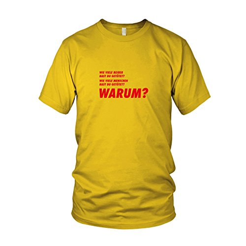 TWD: Drei Fragen - Herren T-Shirt, Größe: XXL, Farbe: gelb