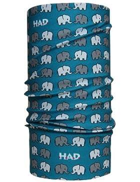 H.A.D. Sciarpa per Bambini Originals Kids Trunk To Trunk, Blu/Grigio, Taglia unica