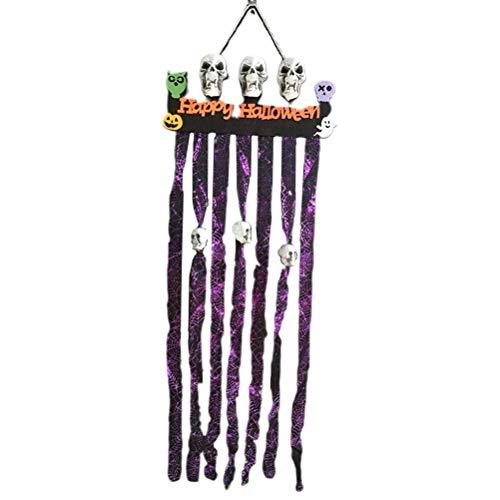 BESPORTBLE Happy Halloween Türbehänge Flagge Dekoration Schädel Banner Party Supplies Requisiten, 120x48CM