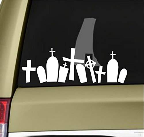 Wandaufkleber Kinderzimmer wandaufkleber 3d Auto Aufkleber Auto Aufkleber Halloween Friedhof Aufkleber Aufkleber Zombie Aufkleber Vampire Walking Dead 20X7Cm