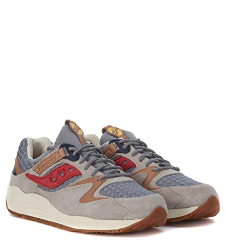 Basket Saucony Grid 9000 The Liberty Pack en suede grise Gris