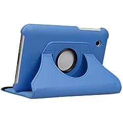 doupi Rotatif Housse pour Samsung Galaxy Tab 2 (7 Pouces), Deluxe 360 Degrés Smart Coque de Protection Simili Cuir Coque Cover et Case, Bleu