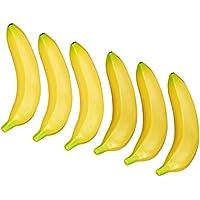 Tenflyer 6 Artificial Plátano Plátanos plástico amarillo decorativo de la fruta