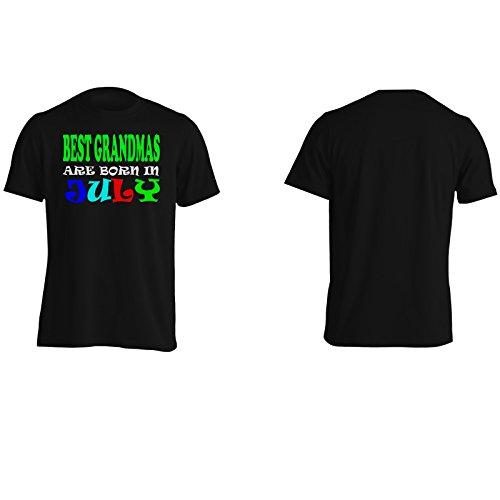 MIGLIORI nonne NASCONO A LUGLIO DIVERTENTE Uomo T-shirt v29m Black