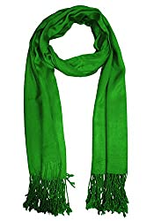 URBAN-TRENDZ Latest Collection of Satin Pashmina Scarf Stole Duppatta Shawl with twisted fringes in Superfine Quality (Summer Colours) UT2338GR