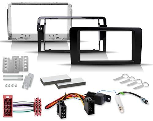 Audi A3 und S3 2-Din Einbauset mit Radioblende ISO Radioadapter Blech-Einbauschacht (8P/8PA 2003-2008) ohne Soundsystem