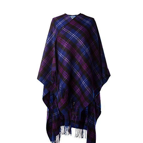 Edinburgh Lambswool Damen Poncho HERITAGE OF SCOTLAND