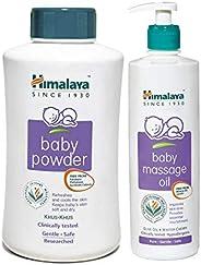 Himalaya Baby Powder, 700g and Massage Oil (500ml) Combo