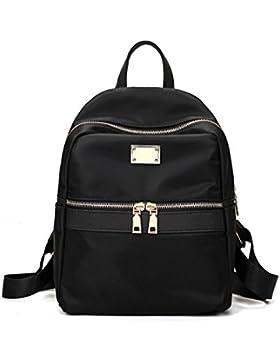 OURBAG Damen Groß Modisch Rucksack Persönlichkeit Umhängetasche Schultasche mit Gute Qualität Nylon
