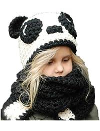 REIA Lindo Panda Niños Sombrero de Invierno Cálido Capucha Bufanda Gorras  Sombreros para Bebés 71a296ee5a0