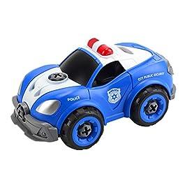 bloatboy DIY Dado di Montaggio Giocattolo Auto, 2,4 G Telecomando Senza Fili con Effetti sonori Auto della Polizia…