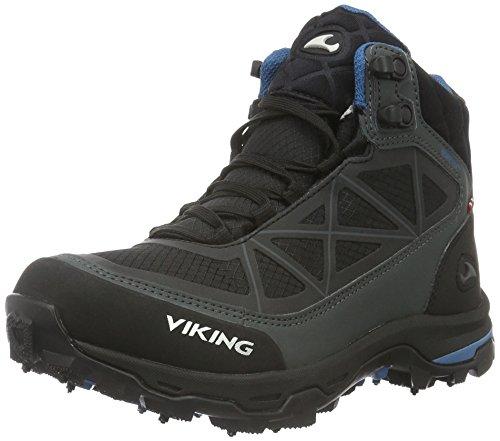 Viking Ascent Ii Spikes, Scarpe da Escursionismo Unisex-Adulto Nero (Schwarz (Black/Silver 246))