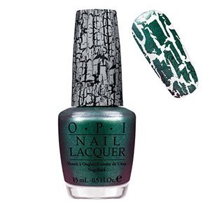 O.P.I Shatter Nail Polish/Varnish - Green Shatter- Fullsize 15ml (Shatter The Scales-Green) (Opi Nagellack Grün)