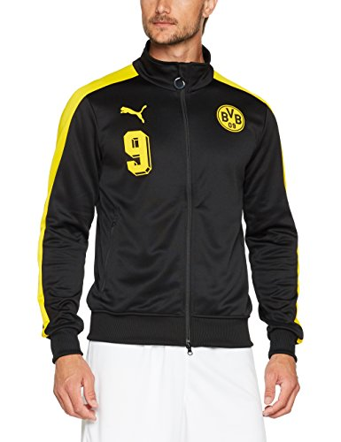 PUMA Herren BVB T7 Jacket Jacke, Black-Cyber Yellow, M