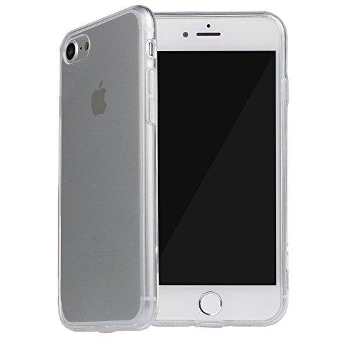 VANKER Acrylique Dur Transparent Arrière Protecteur Peau Couverture Coque pour iPhone 7 4.7 Noir Blanc