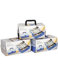 Bakaji - Caja de herramientas, costurero o maletín para hobbies, 30 × 18,5 × 14 cm