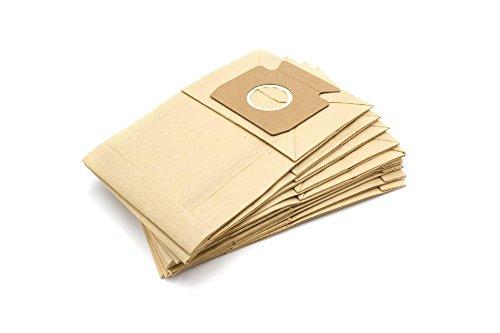 vhbw 10 Papier Staubsaugerbeutel Filtertüten für Staubsauger Saugroboter Miele Exquisit HE, Meteor 100, Mondia, S125, S126, S127, S128, S129, S130