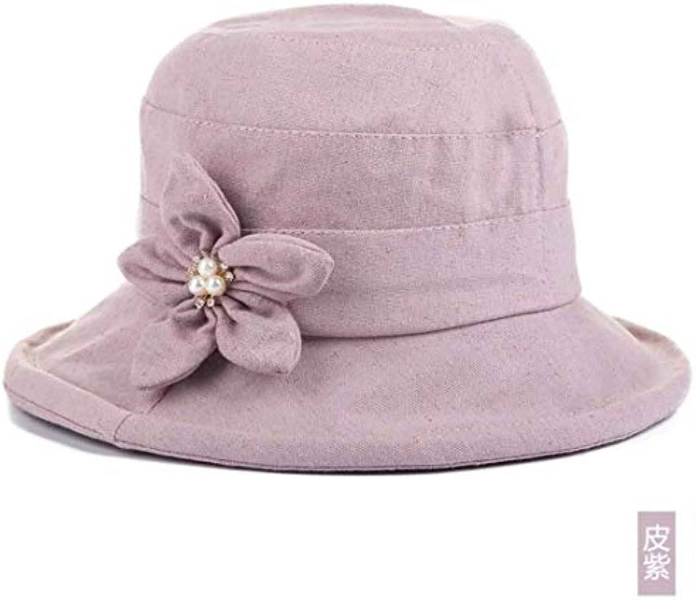 Eeayyygch Cappello da Donna Ms cap Pieghevole Estate Autunno Sole Cappello  da Sole Autunno Cappello da 00ba248a1495