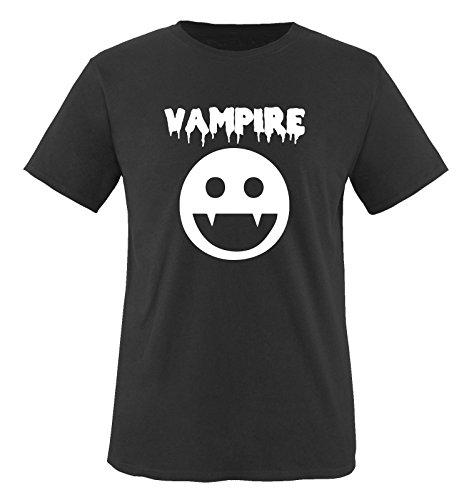 VAMPIRE KOSTÜM -Herren T-Shirt in Schwarz/Weiss Gr. XXL