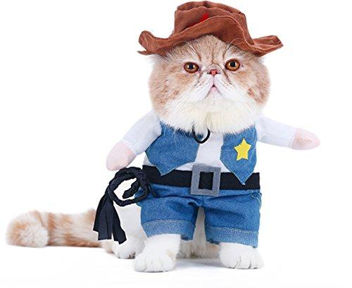 arkind Kostüm Zoohandlung Puppy Welpen Hunde katze 3D Kleidung Pirat Polizei Cowboy Kostüm Haustiere Cosplay (Katze Piraten Kostüm)